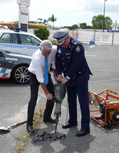 And the construction of the new Tweed Police station commences. Here with Assistant Commissioner Jeff Loy.