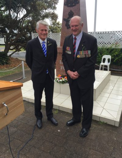 Anzac Day 2016 here with Brian Vickery at Kingscliff