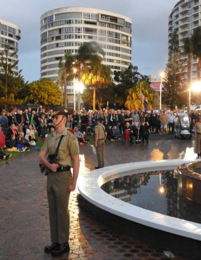 Anzac Day 2016. Despite the weather a fantastic number of people turned up to show their support.