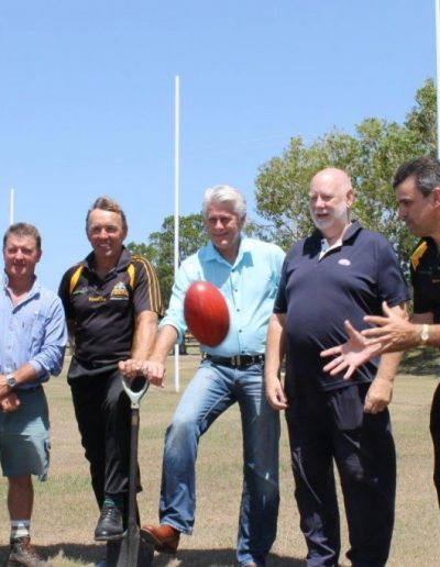 Geoff joins Tweed Coast Tigers AFL Club and Tweed Council in celebrating the receipt of funding from the NSW Government Community Building Partnership funding round
