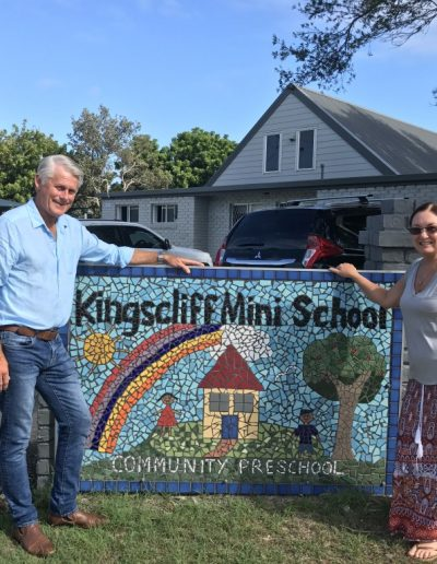 Here at Kingscliff Mini School Director Lindy Smith. Great to see where they are spending the Community Building Partnership funding.