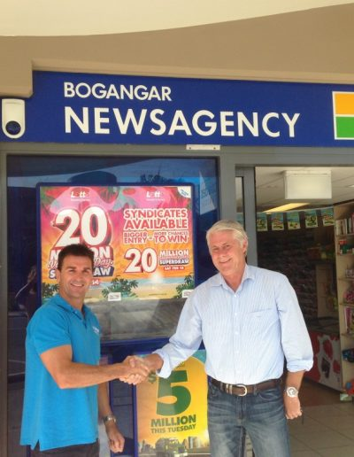 Here with Brent Hayward from Bogangar LPO sharing the good news.Tweed newsagents have welcomed an initiative by the NSW Government to grant more protection for local newsagencies