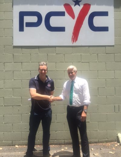 Here with Paul Salmon, Manager of Tweed Heads PCYC following their successful application for funding through the NSW Governments Community Building Partnership program