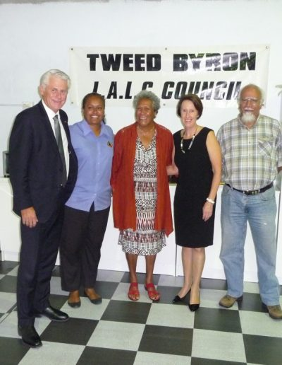Here with the Tweed Byron LALC and Minister for Aboriginal Affairs Leslie Williams on her visit to Tweed