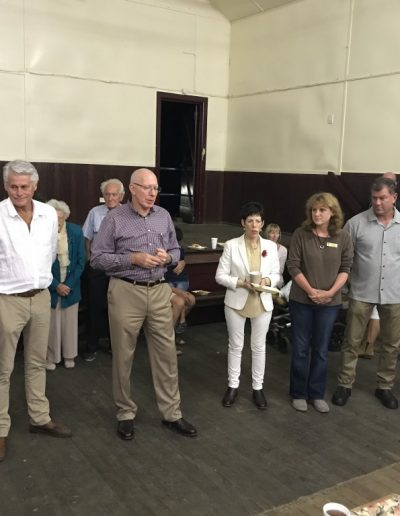 His Excellency General The Honourable David Hurley AC DSC (Ret'd), Governor of New South Wales accompanied by Mrs Linda Hurley visited Tumbulgum after the recent flood event