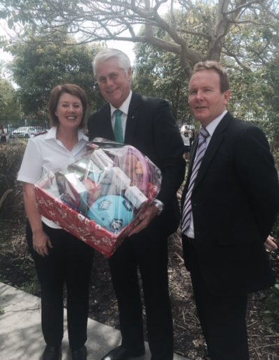I won the Christmas hamper at this morning's end of year presentation at Centaur Primary school