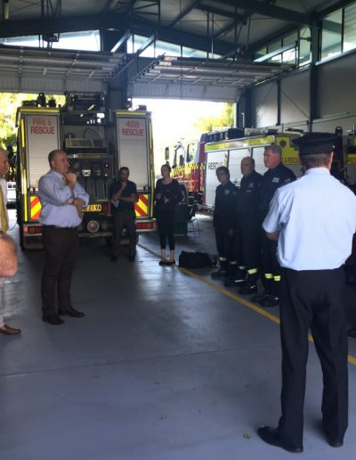 Minister Elliot meets with Tweed Heads fire station officers