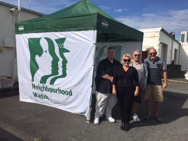 Neighbourhood watch get a new marquee. Watch out for it at local events and get involved in your NHW .