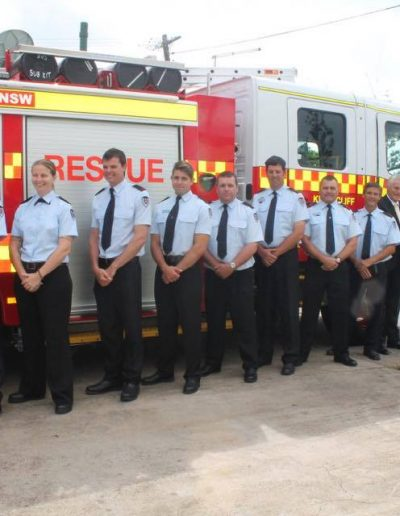 New fire truck delivered to Kingscliff. Im pictured here with Kingscliff 347 Crew who also all received awards of service. Congratulations team!