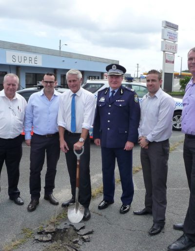 Officers from Tweed Byron LAC share in the joy of the new station commencing