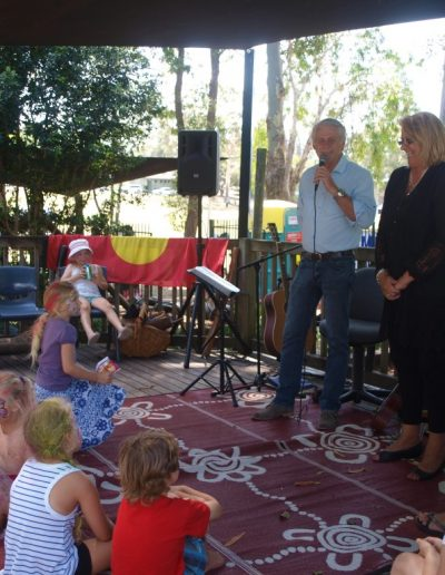 Opening NSW funded extensions to Cooloon Children's Centre in Tweed Heads with Centre Director Judy Radich