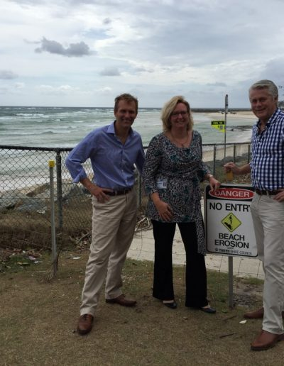 Rob Stokes, Minister for the Environment here with Jane Lofthouse, Unit Coordinator Natural Resource Management at TSC to discuss the funding for coastal protection