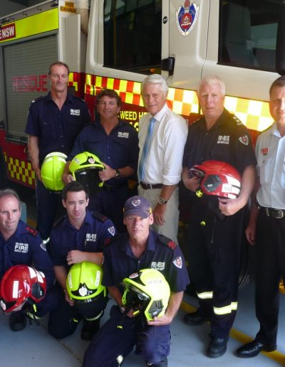 Rollout of new helmets for firefighters at Tweed Heads Station