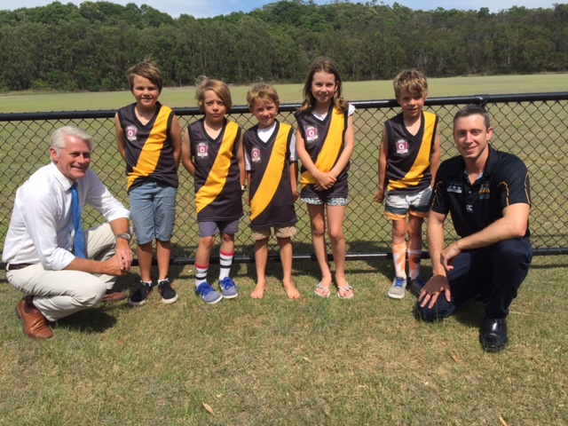 Some of the Tweed Coast tigers AFL juniors