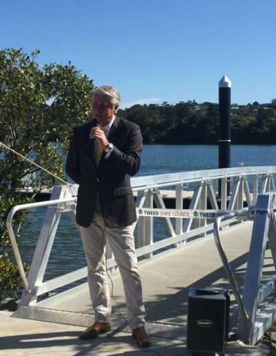 Speaking at the launch of the new pontoon at Chinderah