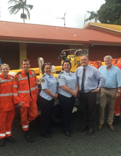 The Minister for Emergency Services visits Tweed SES to announce funding for four lightweight Ark Angel rescue rafts