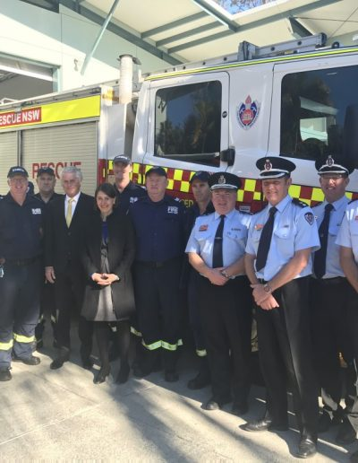 The NSW Premier meets all the Tweed Fire & Rescue crew