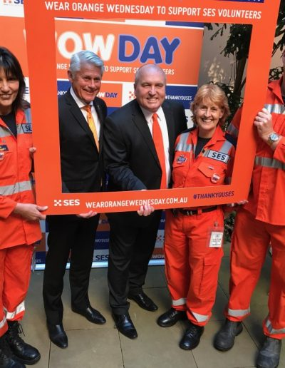 Wear Orange Wednesday -aka WOW Day in support of our amazing SES volunteers