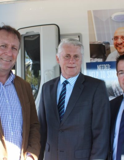 With The Hon Kevin Humphries - Minister for Natural Resources, Lands and Water and The Hon Paul Toole, Minister for Local Government on the Nationals Regional Tour