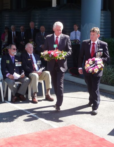 Wreath laying at the Vietnam Veterans Long Tan Day ceremony